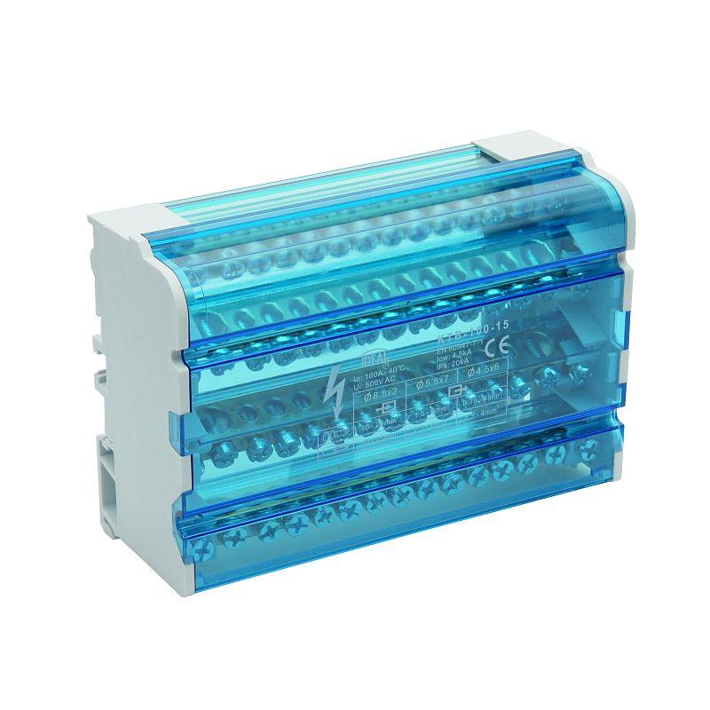 Blok łączeniowy zaciskowy czteropolowy KTB-100-15