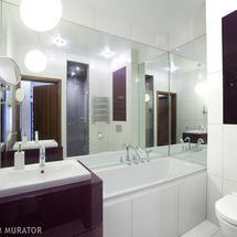 Mała łazienka na połysk