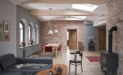 Dekoracyjna ściana we wnętrzu. Piękne faktury, kolor i podświetlenie ściany w aranżacji wnętrza