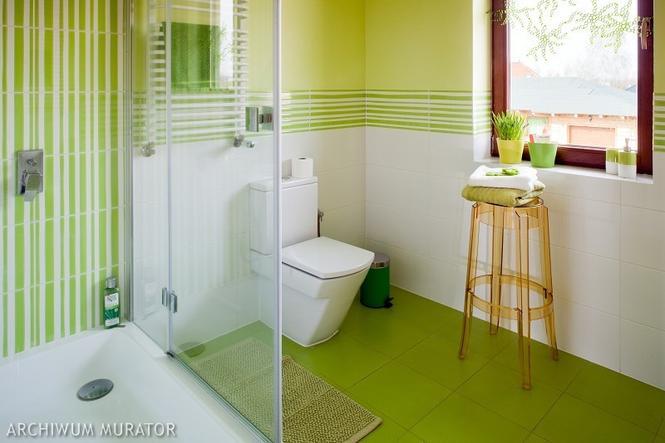 Zielona łazienka: różne faktury