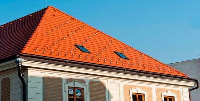 Dach kryty dachówką betonową