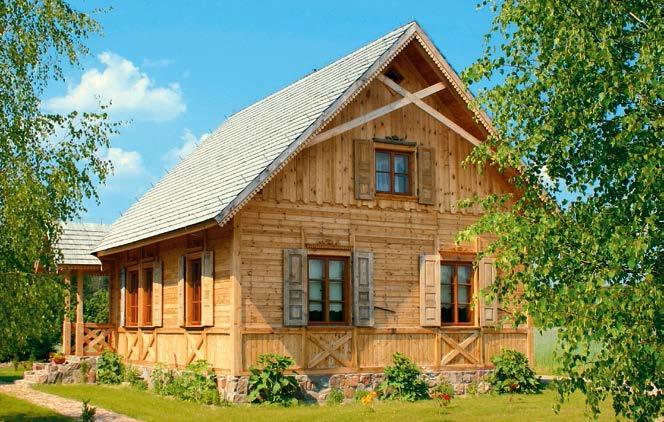 Dach kryty gontem drewnianym