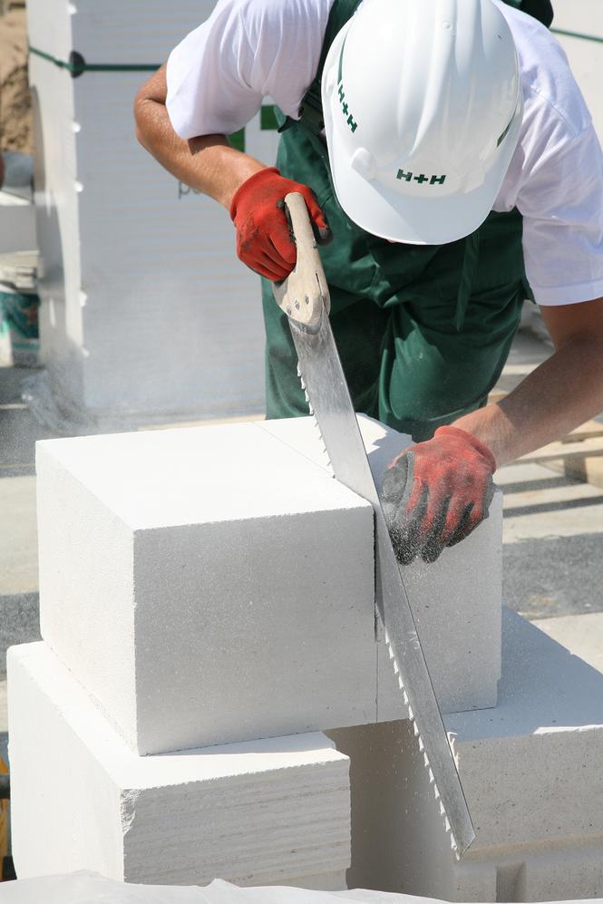 Cięcie betonu komórkowego